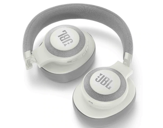 JBL Lifestyle E65BTNC Over-Ear Bluetooth Noise-Canceling Headphones - White