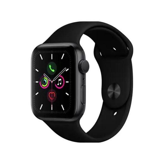 صورة Apple Watch Series 5 GPS 44 mm Space Grey Aluminium Case with Black Sport Band  (Black Strap, Regular)