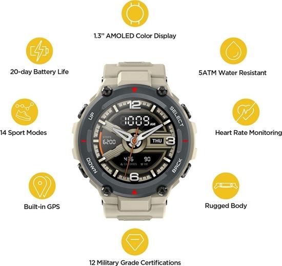 Amazfit T-REX Smartwatch -Army Green