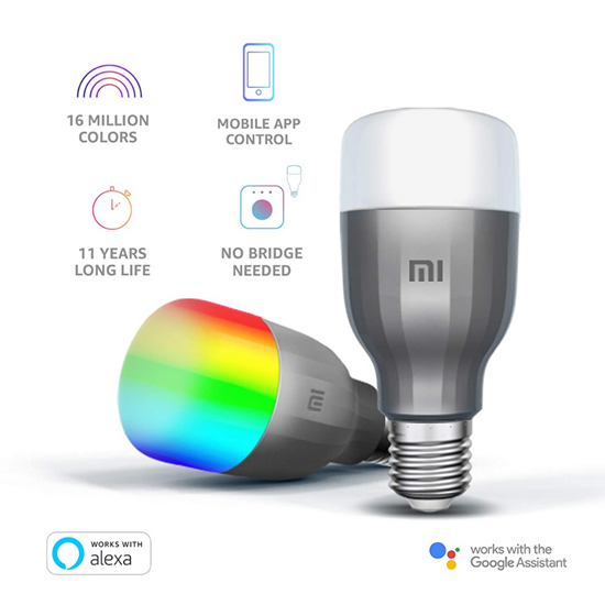 Mi Led Smart Bulb  (White  and Color ) 2 pack
