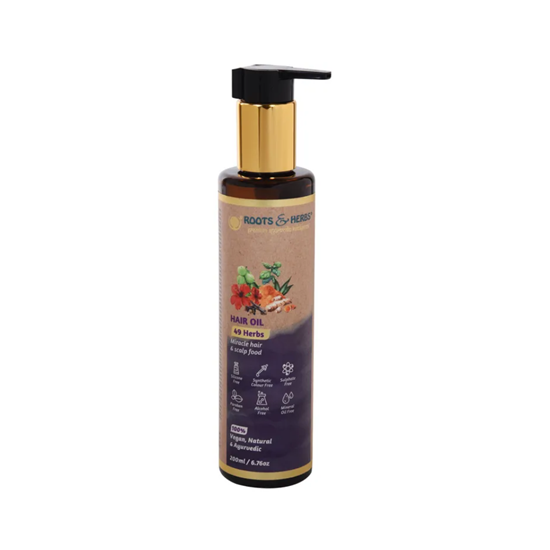 صورة ROOTS & HERBS HAIR OIL 200ML