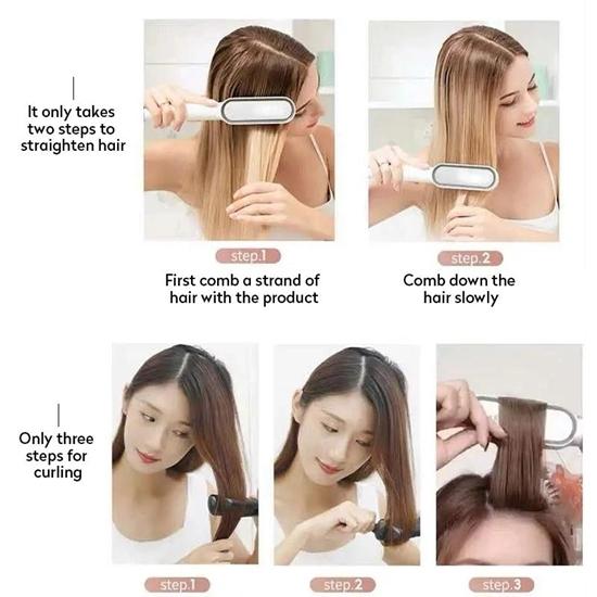 Multifunction Hair Comb Straightener HQT-909B